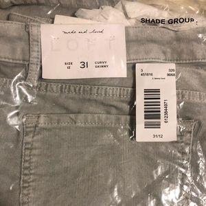 Skinny Gray corduroy pants